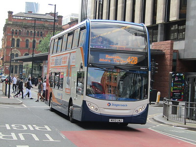 Stagecoach Manchester 10043 MX12LWJ Portland St, Manchester on 42B