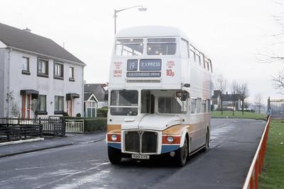 Magicbus 699DYE Castlebay St Milton Glasgow Jan 88
