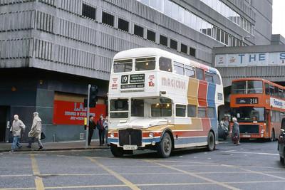 Magicbus CUV121C Renfrew St Glasgow 2 Jan 88