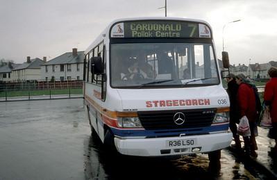 Stagecoach Glas 00036 Pollok Centre Glas Feb 98