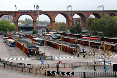 Stockport Bus Stn and Viaduct Oct 11
