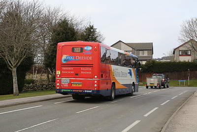 53317 on Wellgrove Road, Westhill is filling in for a Hydrogen Project bus