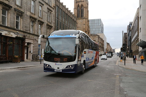54365 YX19 MKV heads west on Bath Street an extended X77