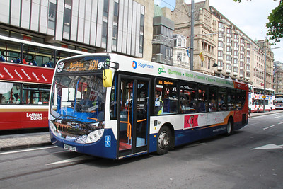 28663 is one of a batch of 5 high spec E300s for the Biggar route, two of which have Dumfries scenes and three have Edinburgh ones