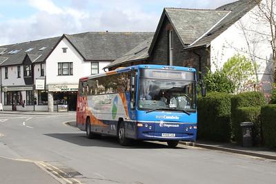 53338 approackes Keswick bus station