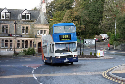 11091 seems to be on a 599 at Windermere.  The service number isn't terribly clear......