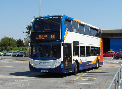 10009 - GX12DXR - Chichester (bus station) - 26.7.12