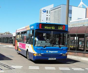 34135 - V135MVX - Cardiff (bus station) - 23.7.12