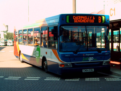 34671 - CN54EDU - Cardiff (bus station) - 1.8.07