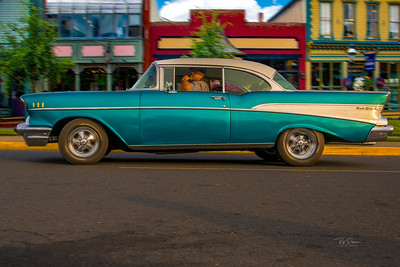 57 Blue Chevy