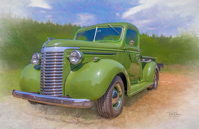 Green  30Chevy Truck