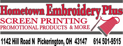 Hometown Embroidery Plus Palooza advertising