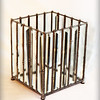 $ 120.00/ bevel glass votive candle holder with black patina / 5 x 5 x 6