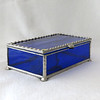 #53. $60.00 Blue water glass box