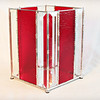 SOLD #25. $120.00 / red and bevel glass vase