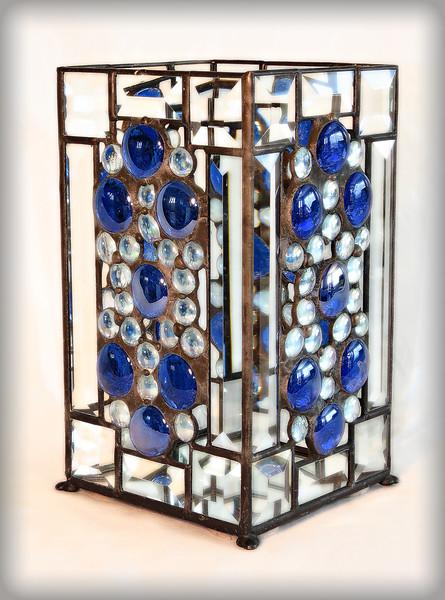 #29. $140.00 / blue gem vase