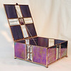 #17. $200.00 / pyramid bevel top / irridized purple with copper patina