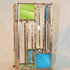 #24. $120.00 / green and blue glass with bevel glass