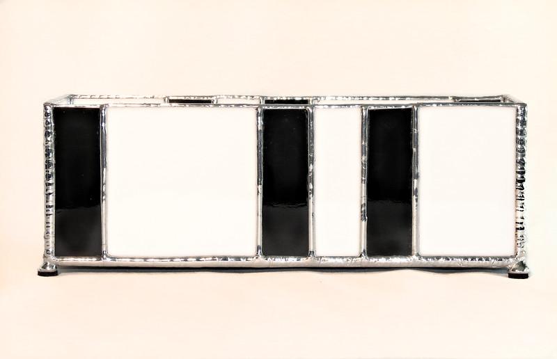 #16. $60.00/ envelope holder / silver with textured solder