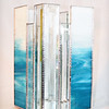 SOLD #30. $180.00/ Blue Water Bevel Vase