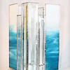 SOLD #30. $180.00/ Blue Water Bevel Vase
