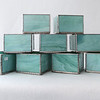 #76. - #85. $8.00 each Mint Green marbled glass candle holder