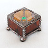 #12 $30.00 Mini ring box - amber/copper