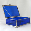 #53. $60.00 Blue water glass box
