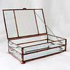 #68. $80.00 IR pebbled glass/bevels box