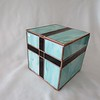 #101. $400.00 Mint green marbled glass URN