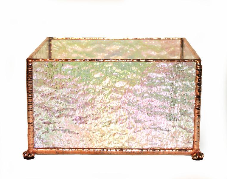 #23. $45.00 / votive candle holder / copper patina texture