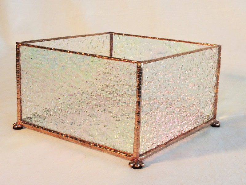 #23. $45.00/ votive candle holder / copper patina texture
