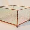 $55.00/ votive candle holder / copper patina texture