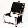 $45 / black & white glass / black polished patina beads /  2 x 3 x 1.5