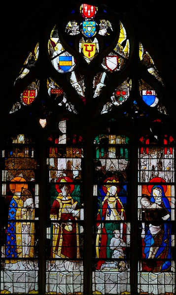 Caudebec-en-Caux - Saints Denis, Stephen, Catherine and the Virgin of Pity (1460-70)