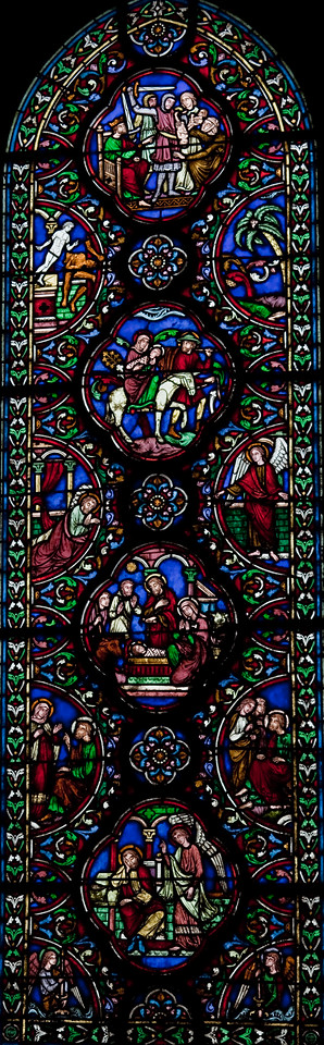 Chalons-sur-Marne - Notre-Dame-en-Vaux - Annunciation of Joseph - The Nativity, The Flight into Egypt, The Massacre of the Innocents