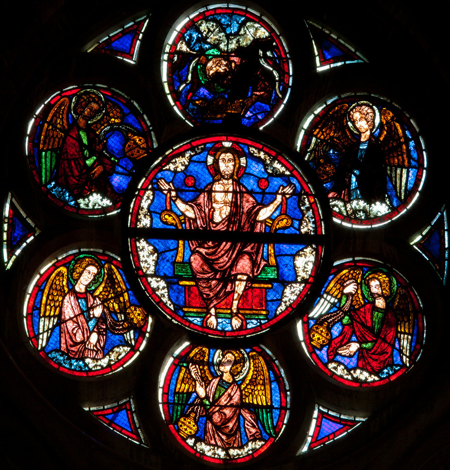 Chalons-en-Champagne Cathedral North Rose Window Christ in Majesty