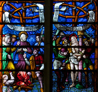 Chalons-en-Champagne Cathedral, The Passion Window, The Denial of Peter and the Flagellation