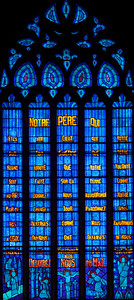 Etrapagny, Saint-Gervais-Saint-Protais - The Lord's Prayer Window