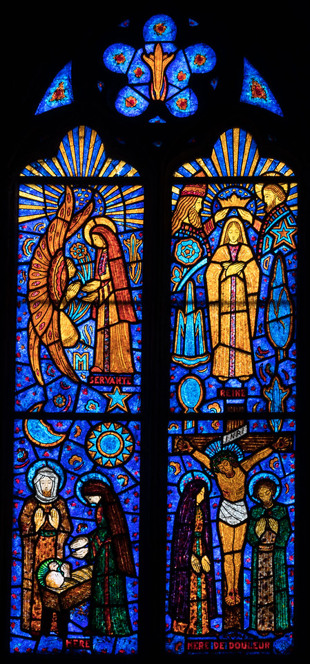 Etrepagny, Saints Gervais and Protais Church - Annunciation, Navity, Crucifixion and Coronation of The Virgin