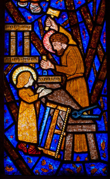 Etrapagny, Saint-Gervais-Saint-Protais Joseph and Christ int the Workshop