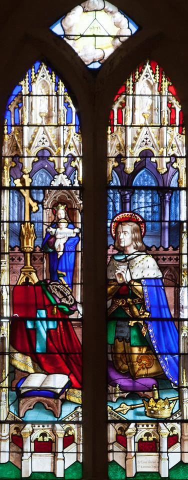 Menneval, Eglsie Saint-Pierre - Saint-Louis Adorning the Crown of Thorns in the Saint-Chapel