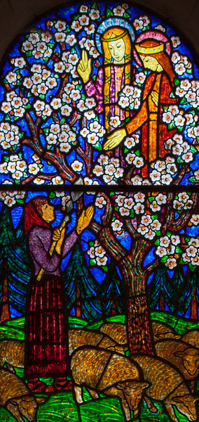 Menneval, Saint-Pierre Church, Joan of Arc Listening to Voices in the  Fruit Trees