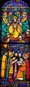Muids, Eglise Saint-Hilare - Saint-Hilaire as Bishop and Saint-Martin at School