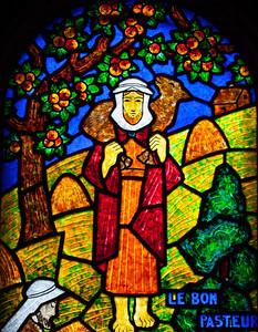 Muids, Eglise Saint-Hilare - The Good Shepherd (detail)