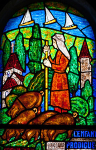 Muids, Eglise Saint-Hilaire - The Prodigal Son Tends Pigs