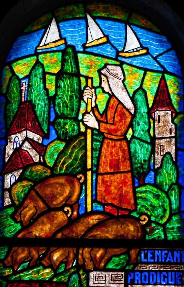 Muids, Eglise Saint-Hilaire - The Prodigal Son Tends Pigs