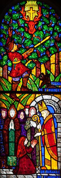Muids, Eglise Saint-Hilaire - Saint-Hubert Window