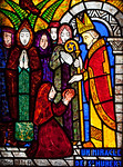 Muids, Eglise Saint-Hilaire - The Miracle of Saint-Hubert