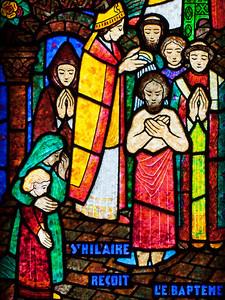 Muids, Eglise Saint-Hilare - Saint-Hilaire Performing a Baptism